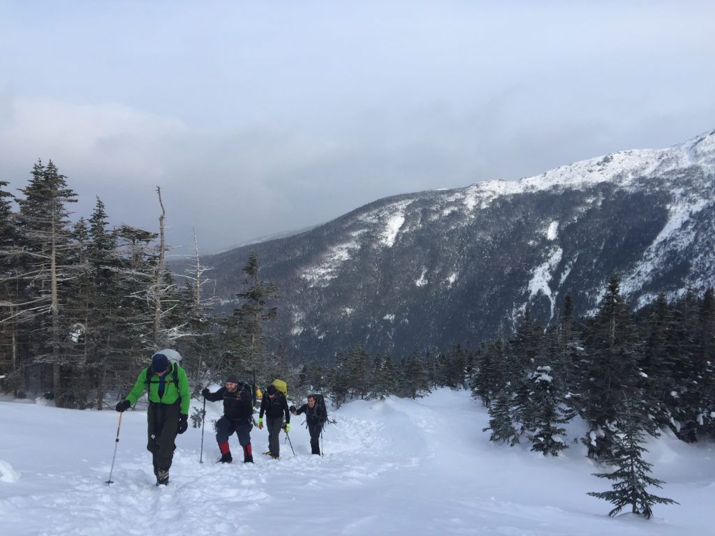 Hiking the ammonoosuc ravine Mount Washington NH