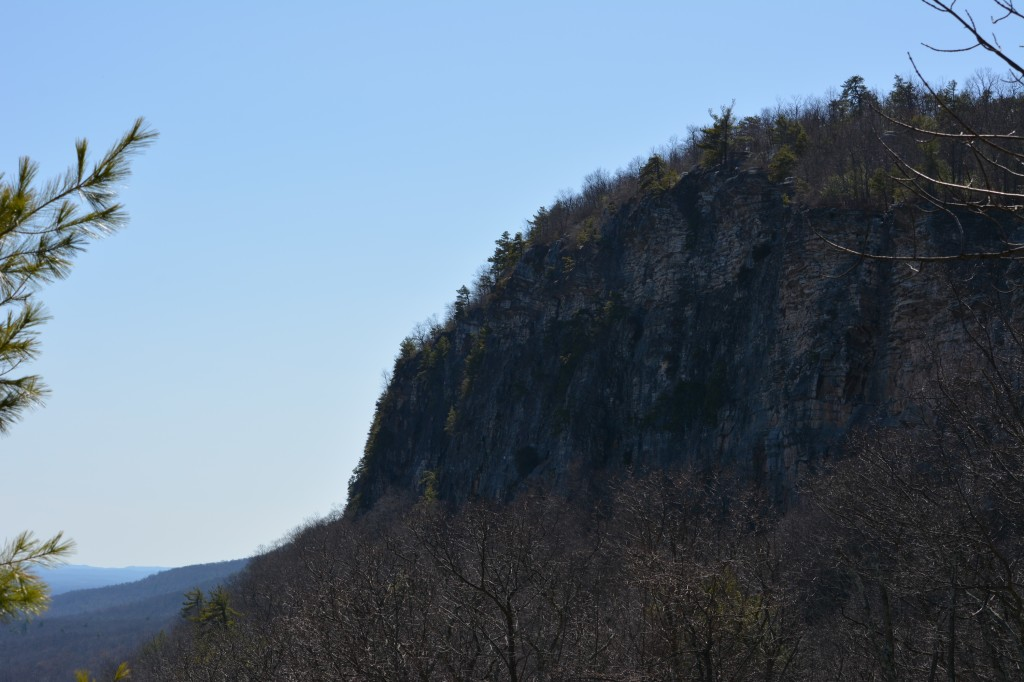 Cliffs further smaller