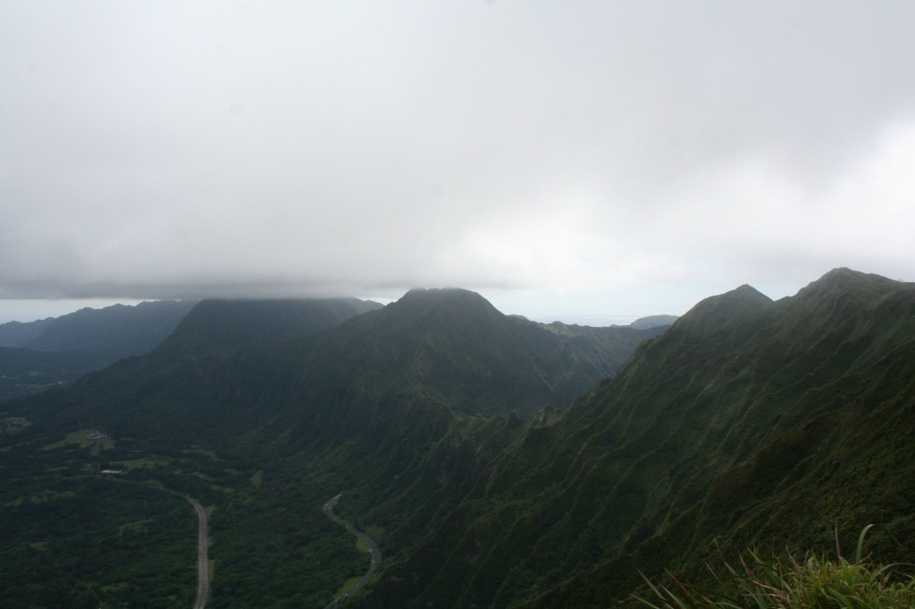 Ko'olau ridge looking towards Pali Lookout