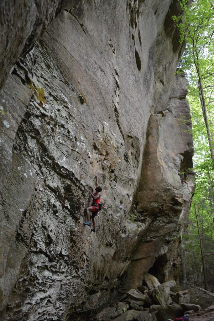 long shot of climber on ksb