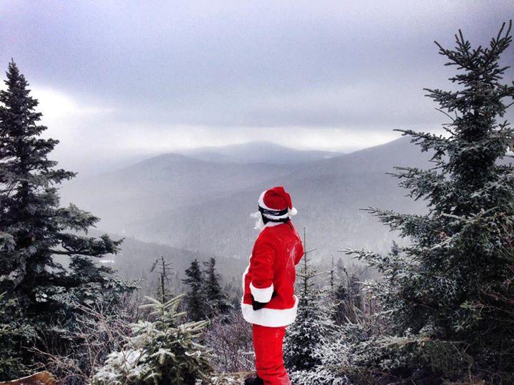 Santa on Killington mountain in Vermont