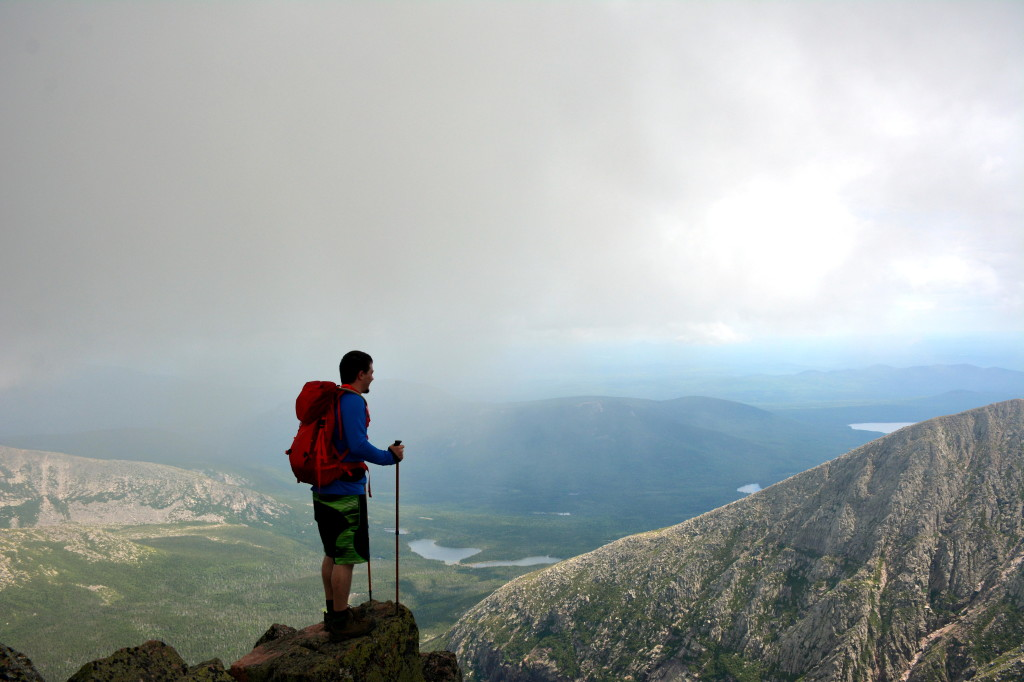 Looking out over the cliffs from the summit of Mount Katahdin www.TimetoClimb.com