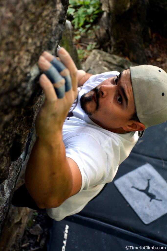 Melvin Rivera nine corners lake Bouldering Climbing adirondacks