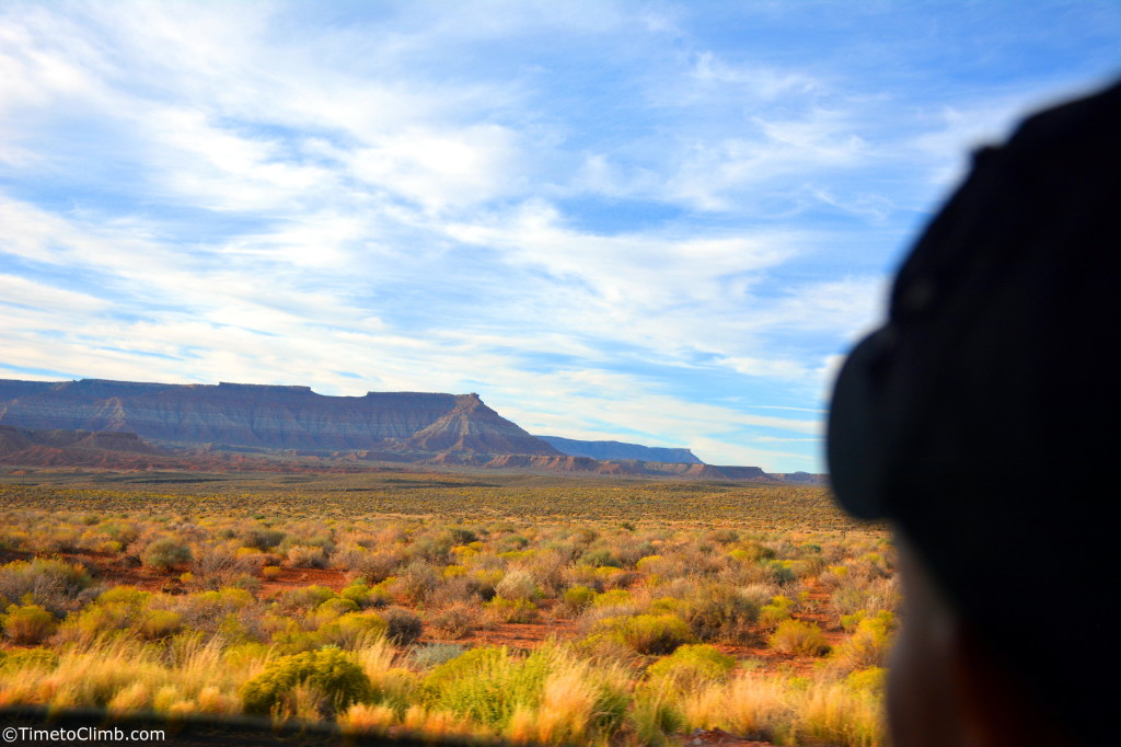 Mel looking out into the Utah Desert
