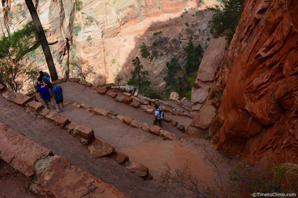 Switchbacks while hiking Angel's Landing in Zion National Park