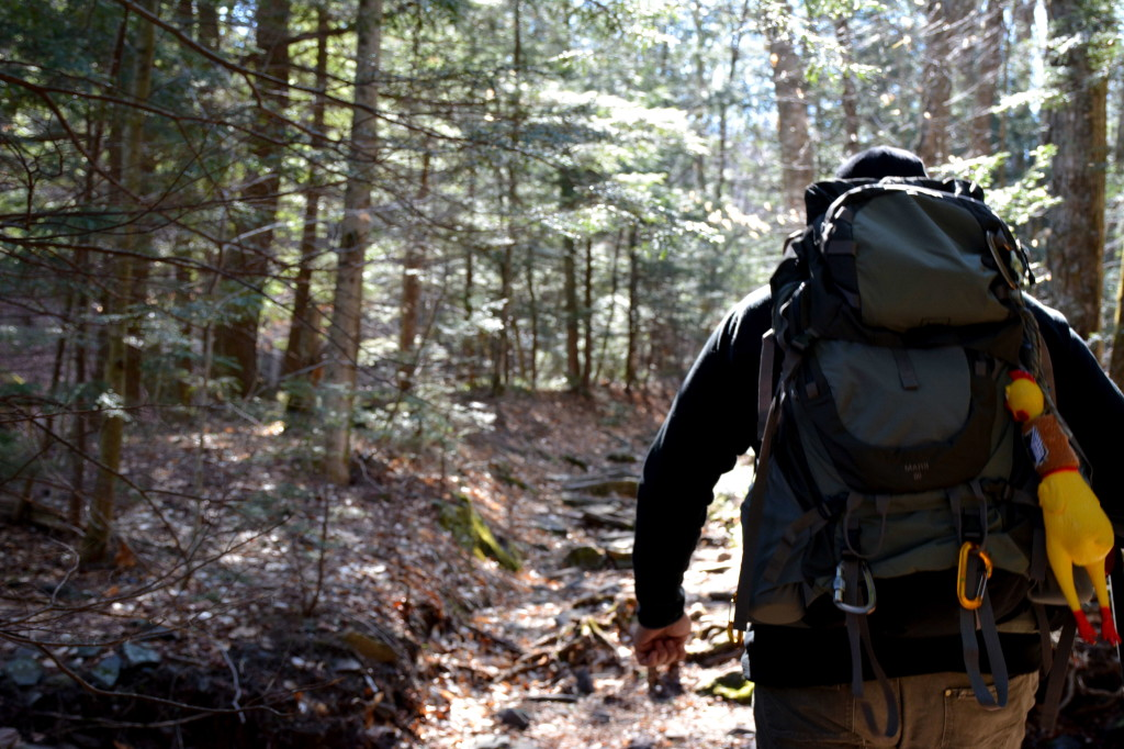 Dan Kasper hiking in the Catskills