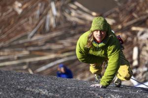 Malamute rock climbing Squamish