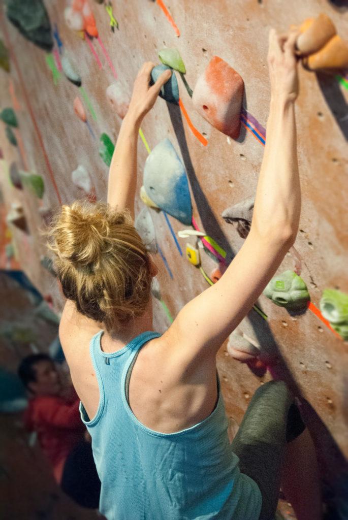 Climbing with long hair -TopKnot