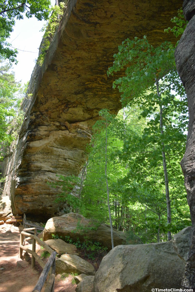 Underside of Natural Bridge left