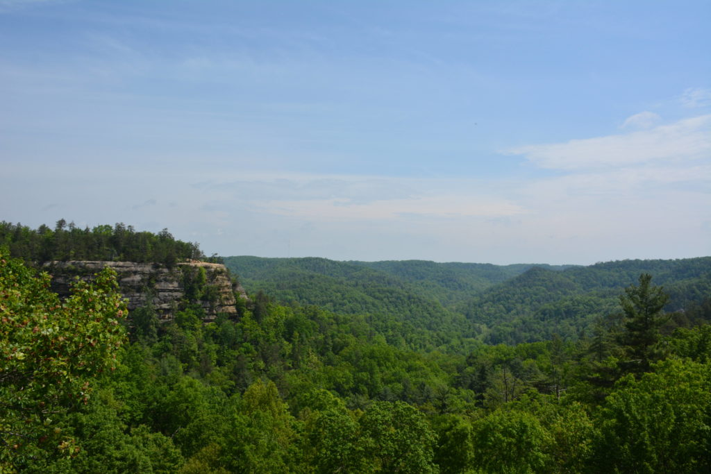 View from the top of hiking Natural Bridge