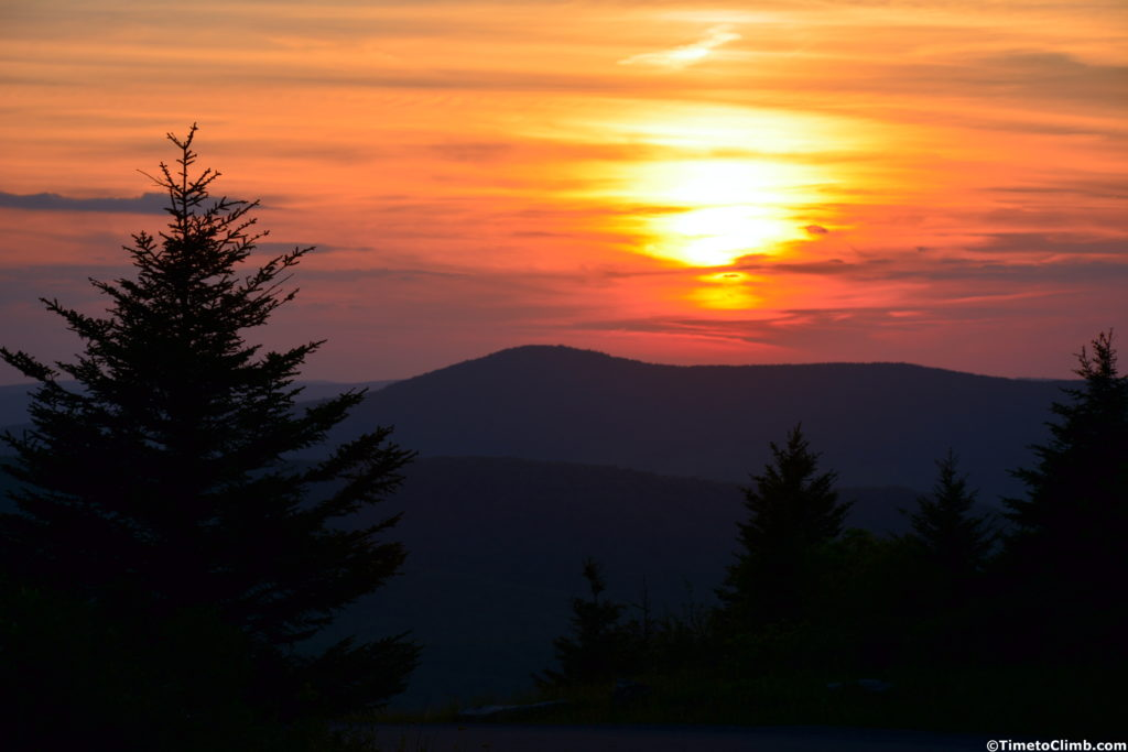 Sunset Spruce Knob WV
