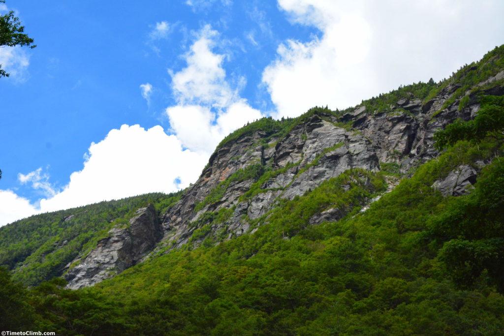 The Cliffs inside of Smuggler's Notch in VT