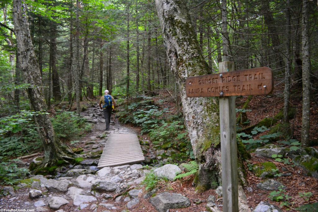 Dan Kasper hiking the Sunset Ridge Trail Mt Mansfield VT