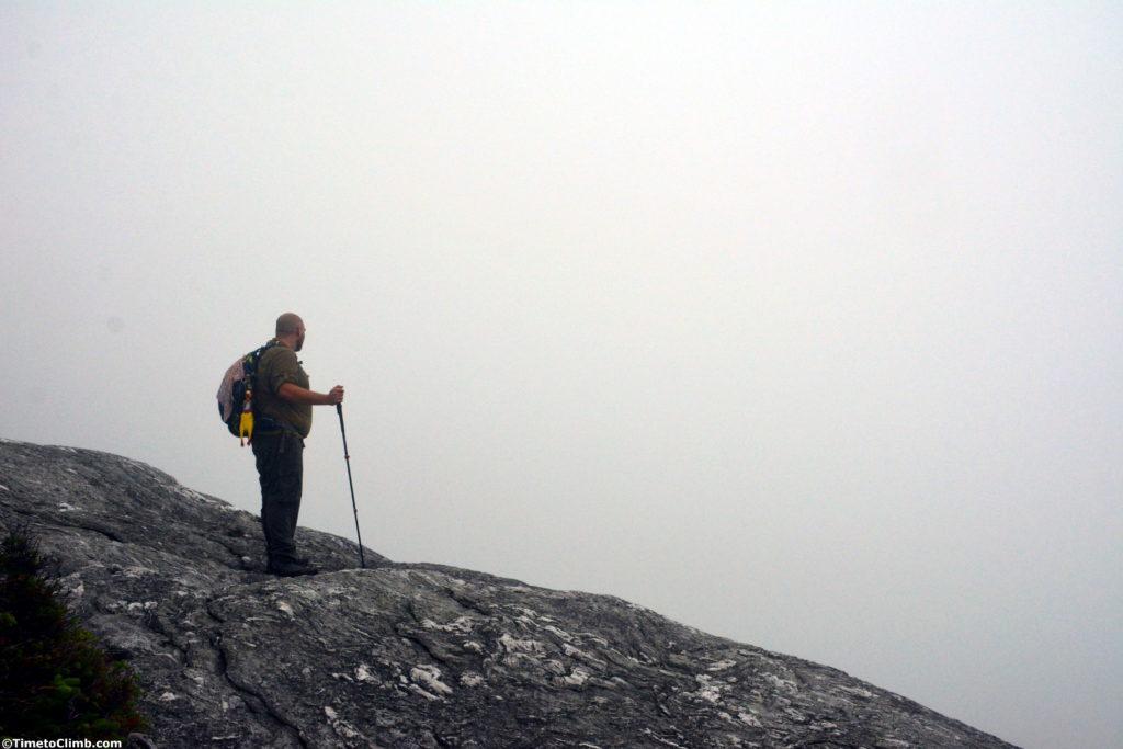 Dan Kasper on the Sunset Ridge trail hiking Mt Mansfield VT