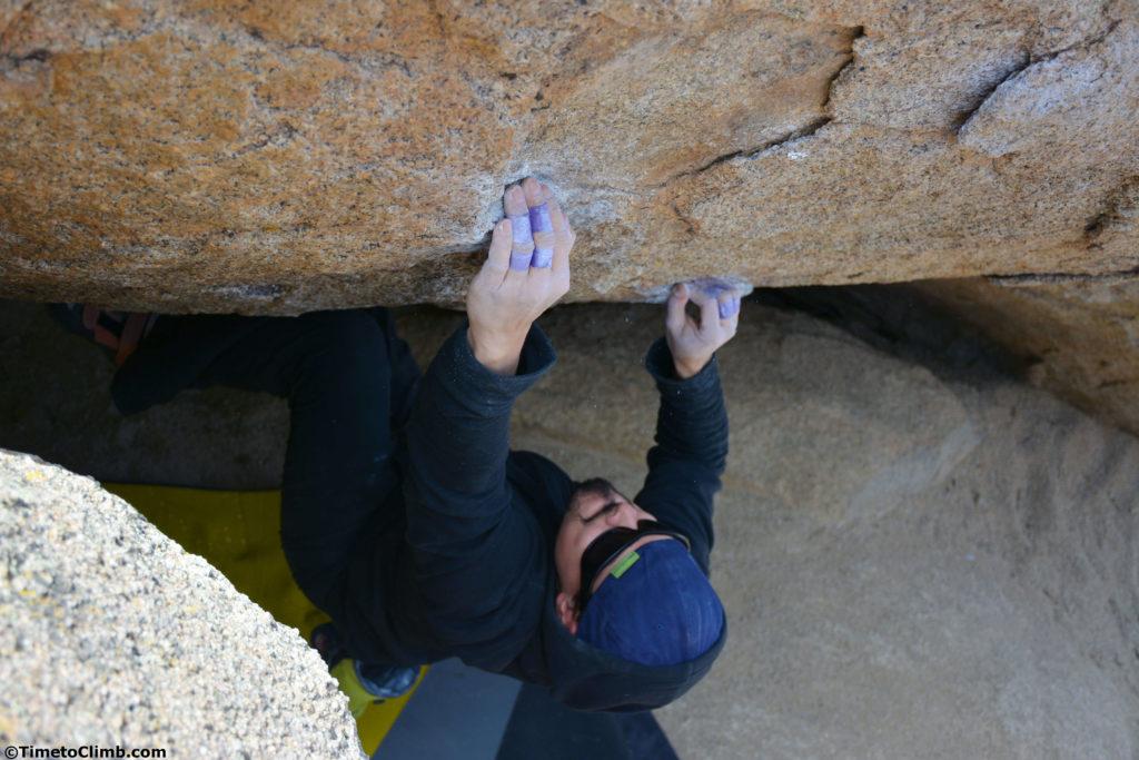 Mel holding Crimps above shot