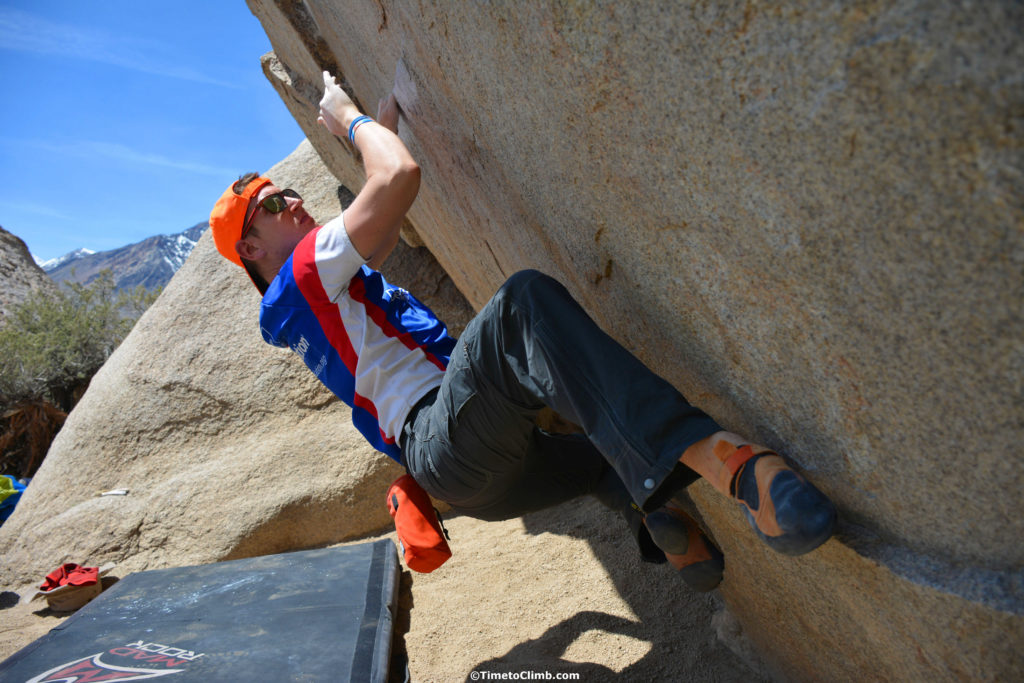 Andrew on Iron Man Traverse in the Buttermilks