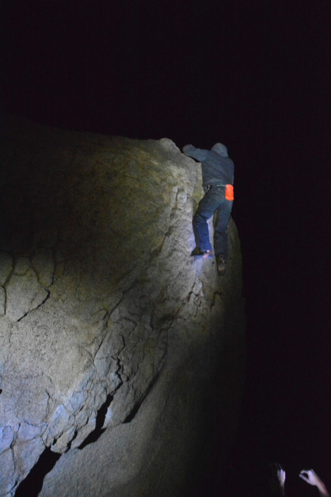 Mel topping out on Roadside Crack in the Buttermilks