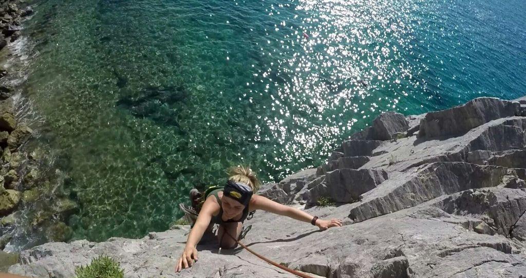 Climbing Capo Noli Italy