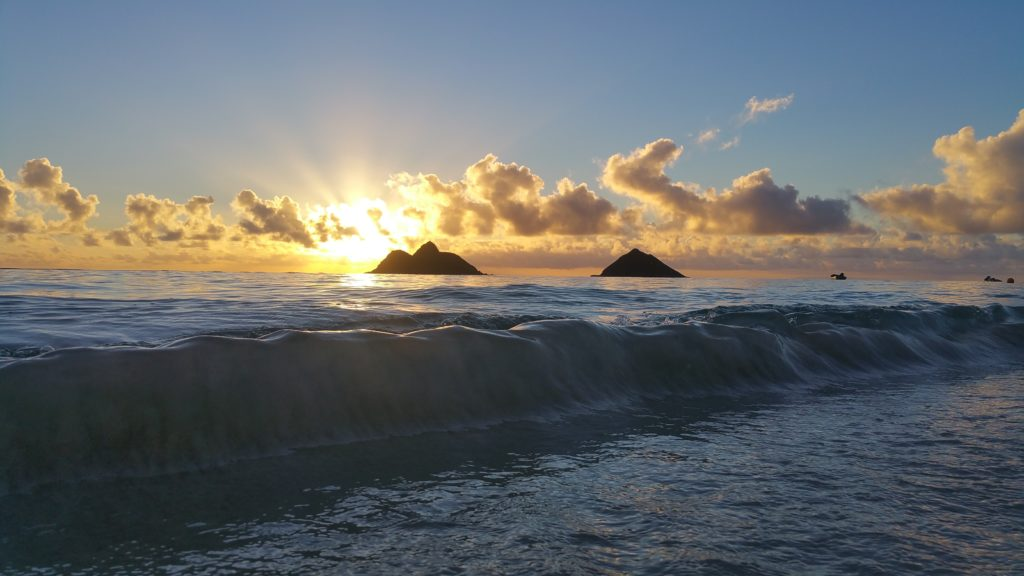 Lanikai Beach at sunrise