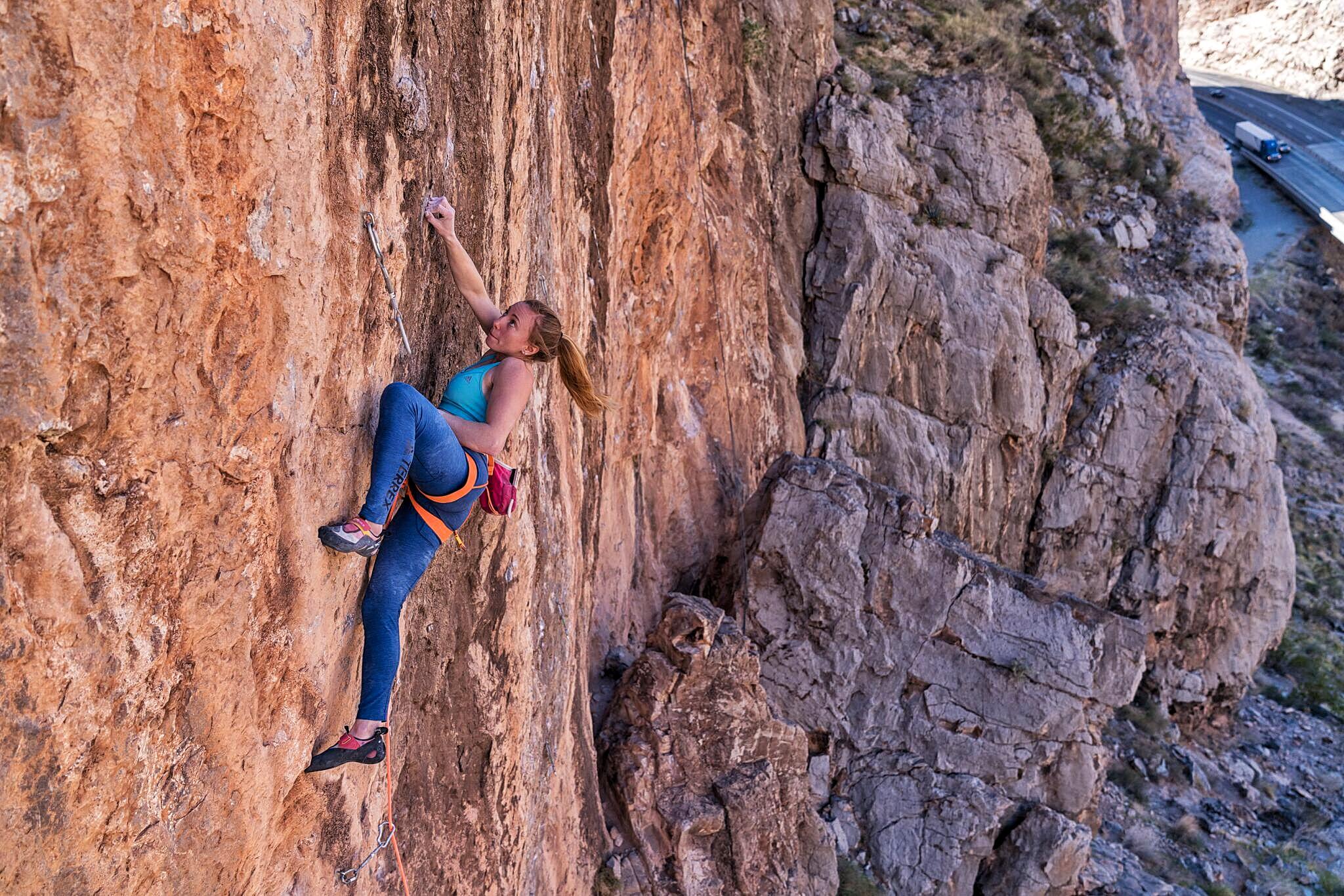 Michaela Kiersch climbing