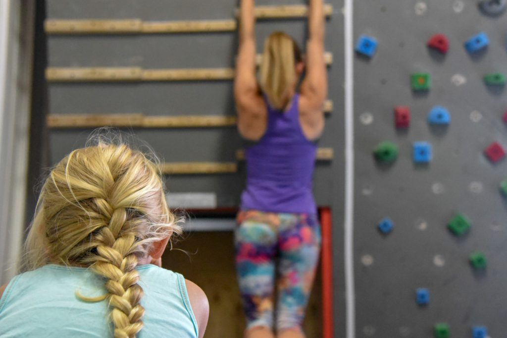 climbing and parenting in the rock gym