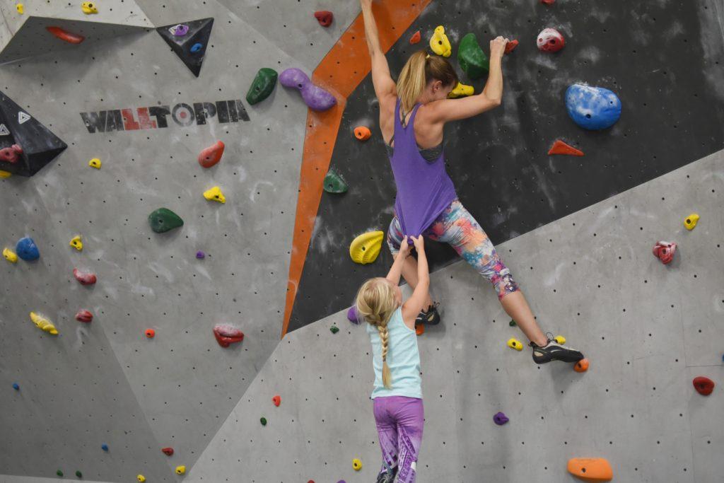 parenting and climbing