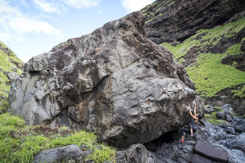 Bouldering on Maui