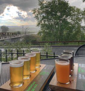 Beer Flight at Clemson Brewery New Paltz