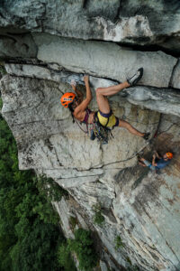 kathy Karlo on Erect Direction 5.10d