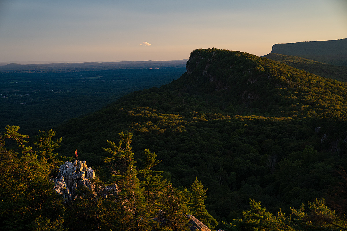 Looking out southwest over the Shawangunk Ridge