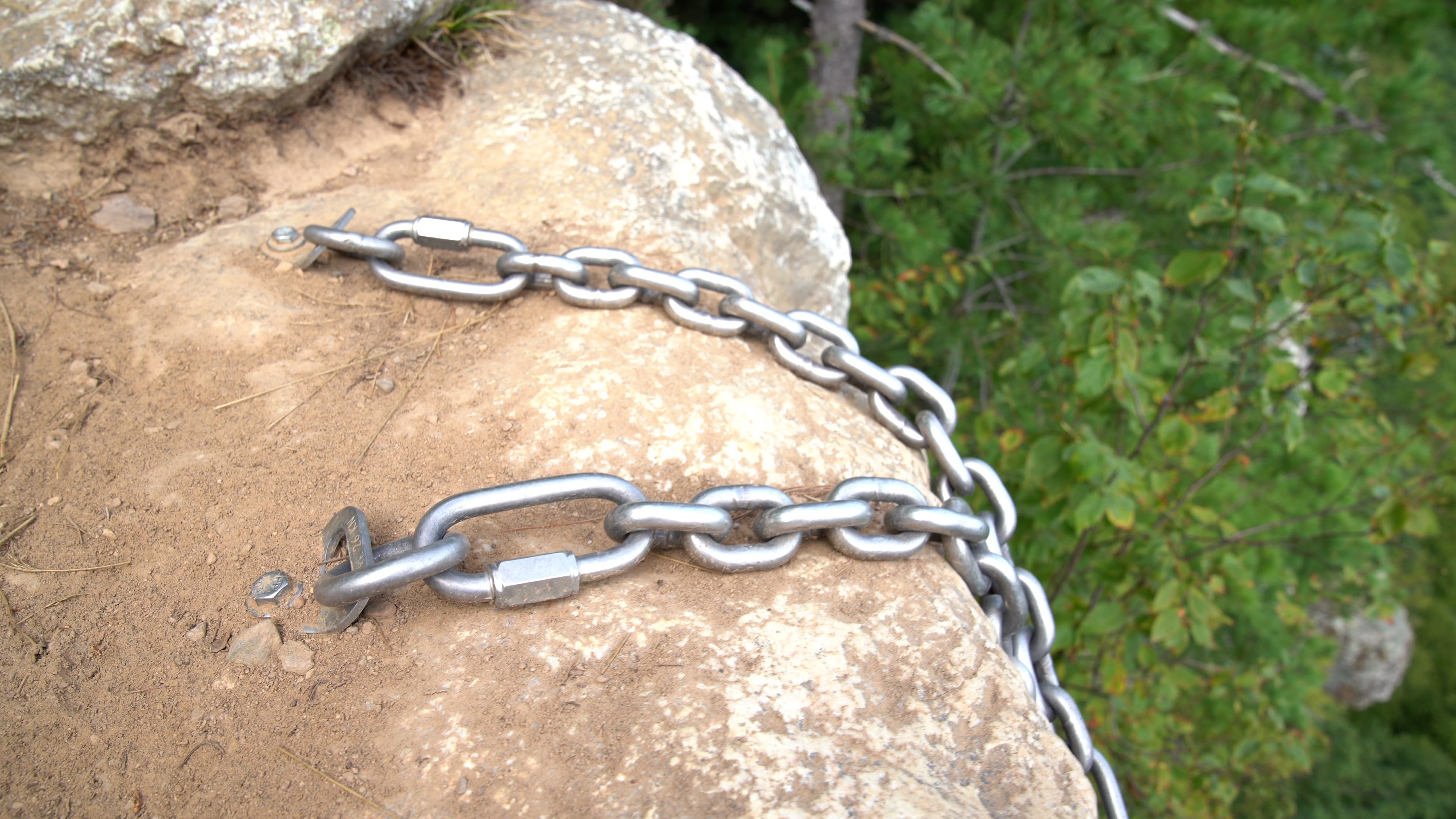 Rappel Anchors in the Gunks